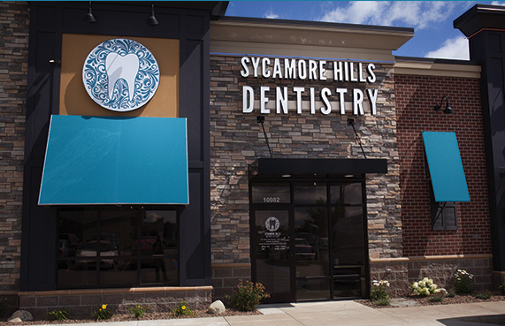 front of Sycamore Hills Dentistry office